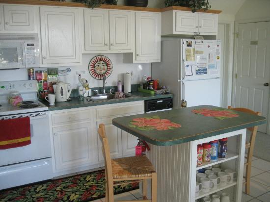 Mountain Hideaway Bed & Breakfast: Kitchen area for guests to use! Also comes stocked with great goodies!