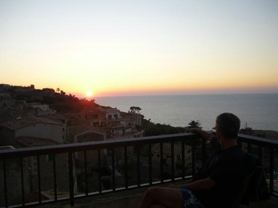 Hotel Mar i Vent: Puesta de sol desde la habitación