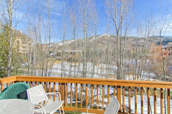 Evergreens Townhomes: Sample Deck with View
