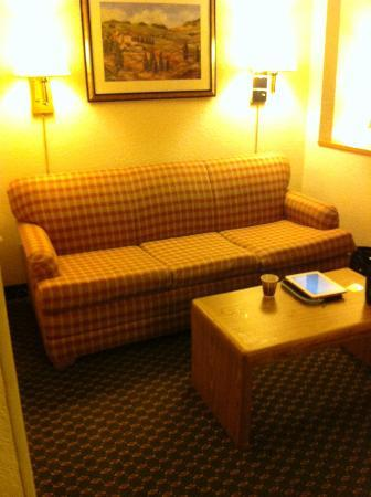 Country Inn & Suites By Carlson, Corpus Christi: The couch that makes into queen bed