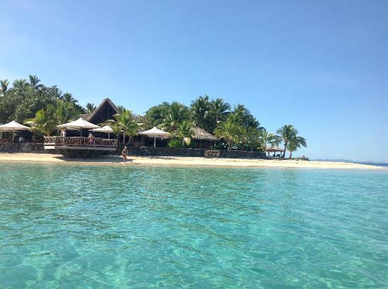 Castaway Island Fiji : View of the restaurant