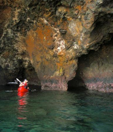 Channel Islands Outfitters: Inside a Sea Cave near Scorpion Anchorage on Santa Cruz Island