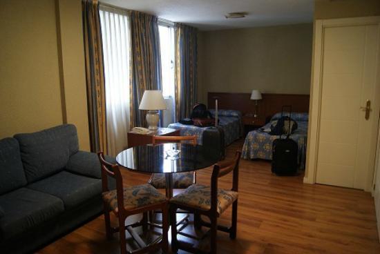 Our room at Apartamentos Juan Bravo