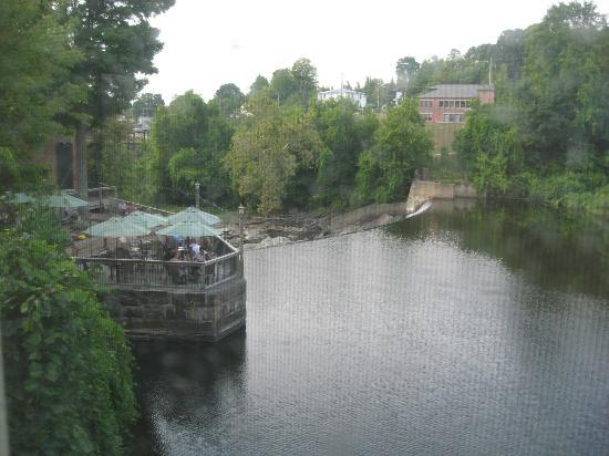 The Common Man Inn: View from room to restaurant patio