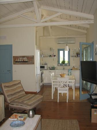 Urania Luxury Villas Lefkada: Villa Fos, Living room