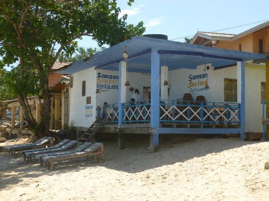 Samson restaurant on the beach
