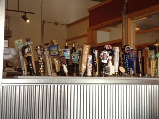 Pizza Bar 66 : Not all of these on tap,but an impressive collection.
