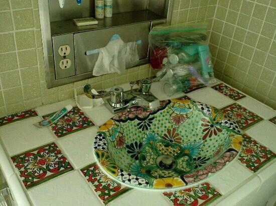 South of the Border: bathroom sink