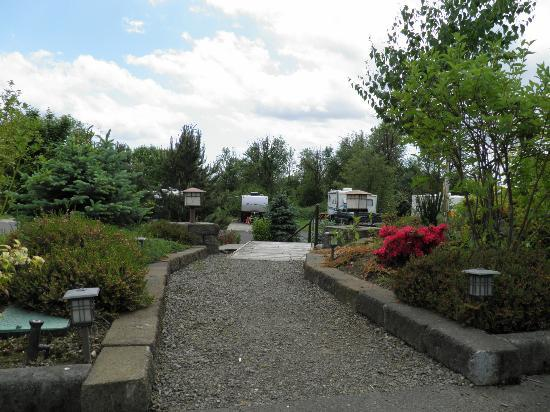 Premier RV Resorts of Salem: Lush landscaping