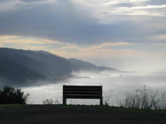 New Camaldoli Hermitage: The bench at the first or last switchback