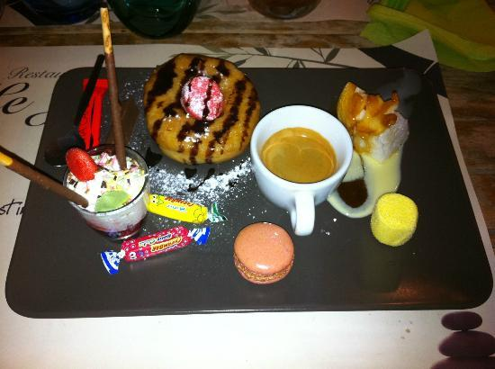 Le Jardin: Cafe Gourmand