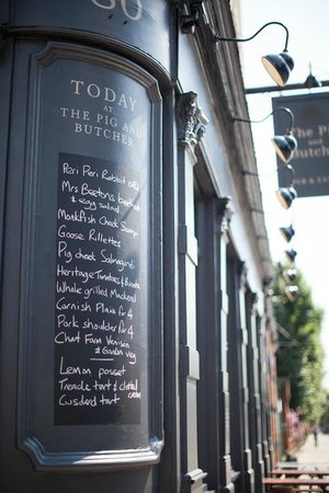 The Pig and Butcher: Serving today...