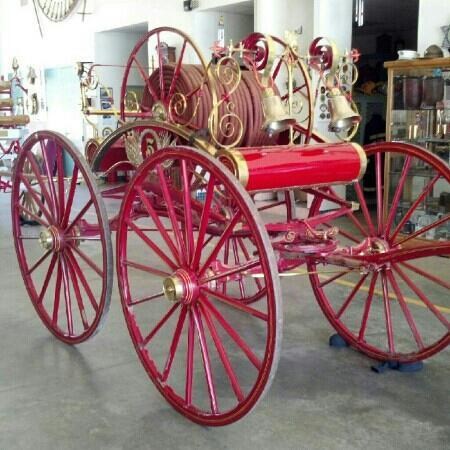 Banning, Californië: 1850 hose cart