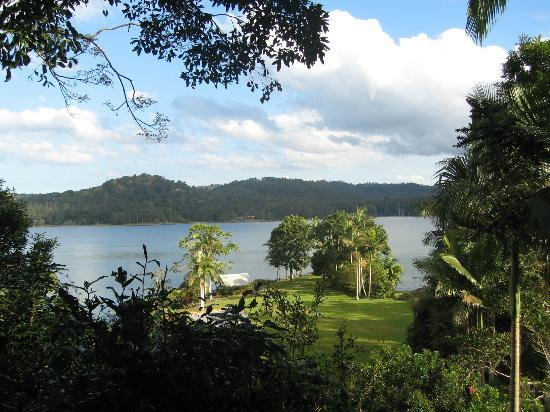 Secrets on the Lake: View from our balcony..Lake Baroon.