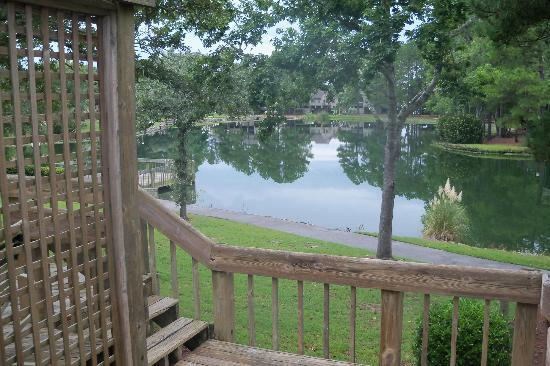The Resort at Fairfield Harbour: View from the back deck 