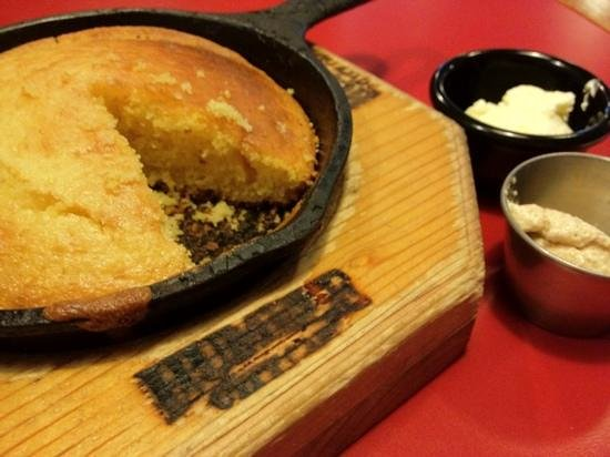 Humble City Cafe: complimentary hot cornbread with fluffy butter