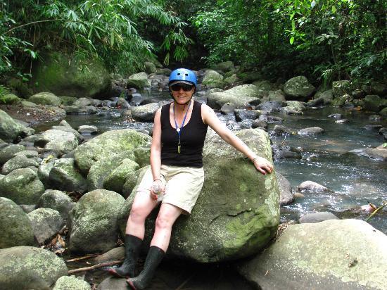 Paddy Adventure Bali: The beautiful halfway stop.