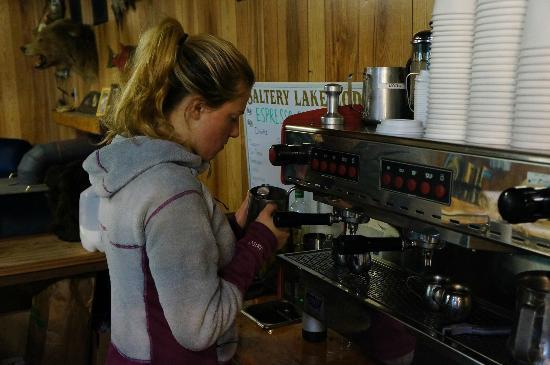 Saltery Lake Lodge: Barista!