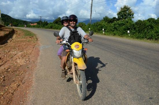 Vang Vieng, Laos: Taking Mika for a ride