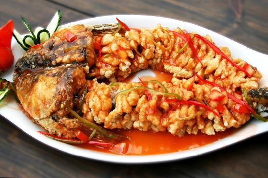 Cafe China: sweet and sour fish