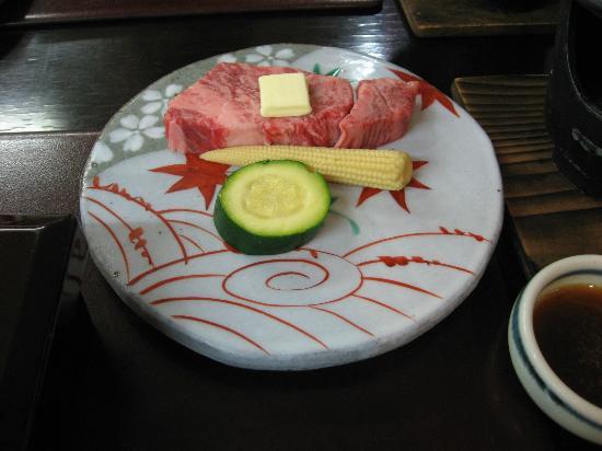 Hotel Parens Onoya: ステーキ