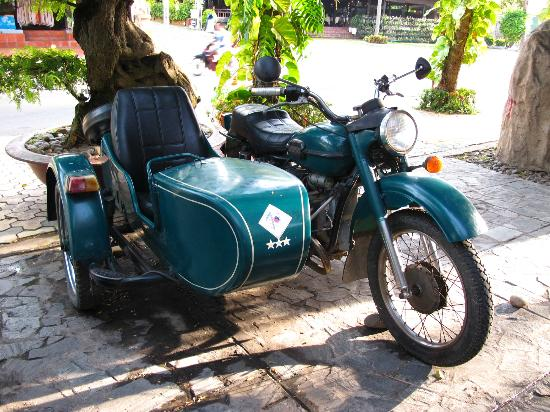 Blue Waves (Tien Dat) Resort: one of the antique bike in the hotel