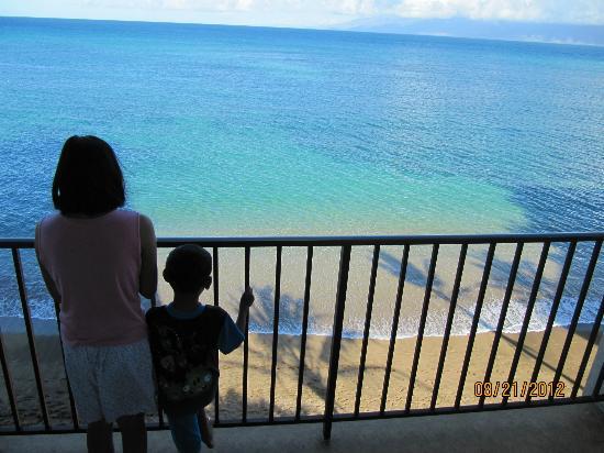 Kahana Beach Resort Ocean View Below The