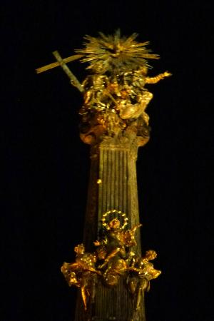Holy Trinity Column: night detail