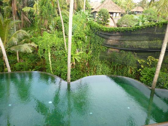 Komaneka at Rasa Sayang: レストランの下にプール