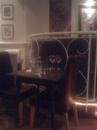 Tante Zoe's: our table in the corridor