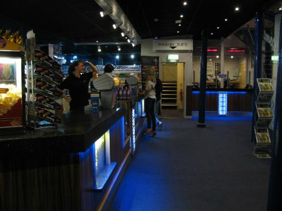 Phoenix Cinema : The main ground floor entrance foyer with box office and kiosk