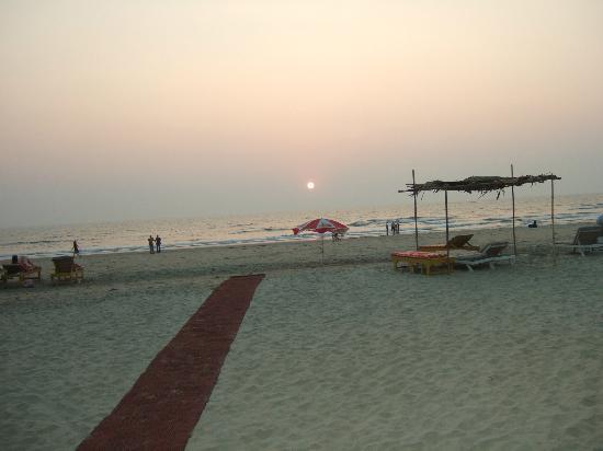 Mandrem Beach : Beach in front of End of the World beach restaurant