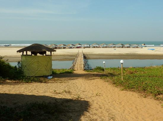 Mandrem Beach : The beach from Dunes resort
