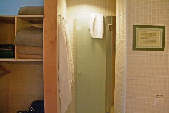 MonNatura Pirineus: Ensuite shower's door