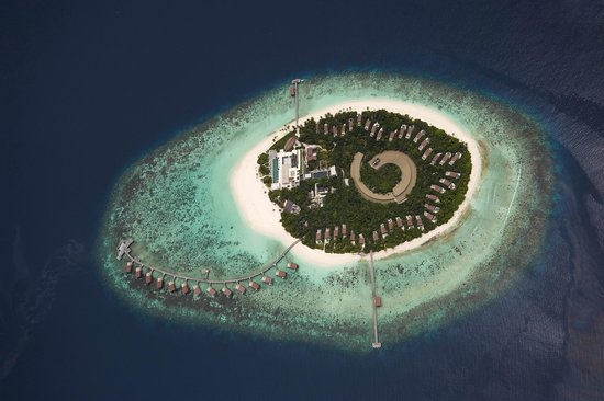 Park Hyatt Maldives Hadahaa : Aerial photo of resort