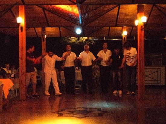 Perdikia Beach: The Staff dance, Must see!