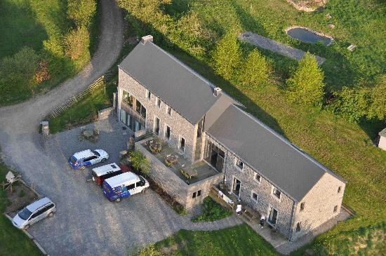Auberge du Pont Lavoir: From the sky...