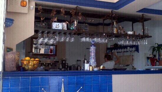 The kitchen and bar of La Creperie