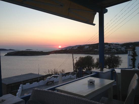 Anemos Studios: Sunset at the Cafe Marjo (Co-located with Anemos Villa)