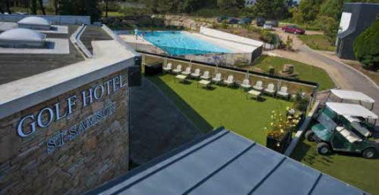 Golfhôtel de Saint-Samson : Piscine de l'hôtel, ouverte de juin à septembre