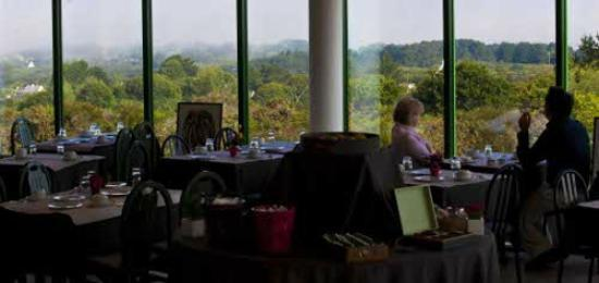 Golfhôtel de Saint-Samson : Petit-déjeuner en salle panoramique, vue sur les 7 Îles