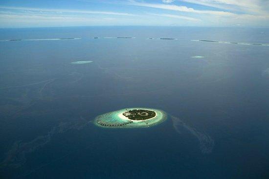 Park Hyatt Maldives Hadahaa: Aerial view of Hadahaa island