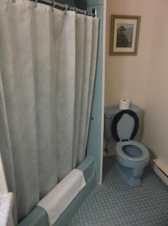 Hôtel Motel Le Château: Salle de bain de la chambre 204 au 31 août 2012.