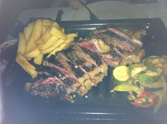 Tanguito: 660 gram steak for two. it's still cooking when it arrives so order it medium rate to get medium