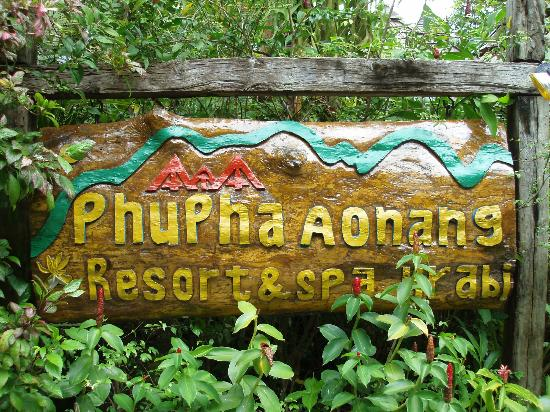 Phu Pha Ao Nang Resort and Spa : L'insegna dell'hotel