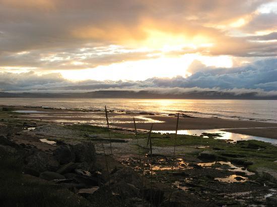 Greenlawns: Nairn beach sunset Aug2012