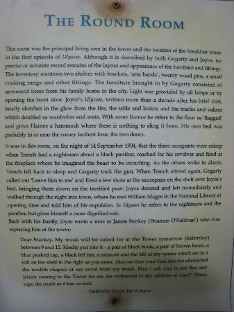 James Joyce Tower & Museum: Literary history