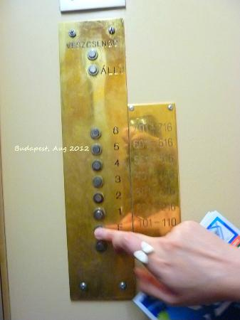 Budapest Center House: Elevator