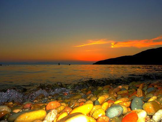 Spiaggia di Mari Pintau: il tramonto