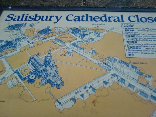 Salisbury, UK: mappa della città